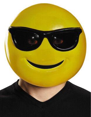 Sunglasses Mask Emoji Emoticon Smiley Smile Face Glasses Costume Happy - Smiley Face Mask