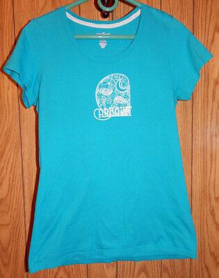 CARHARTT FOR WOMEN RENAISSANCE C SHORT SLEEVE TEE SHIRT Teal Aqua White Sz M C6 - Renaissance Shirts For Women