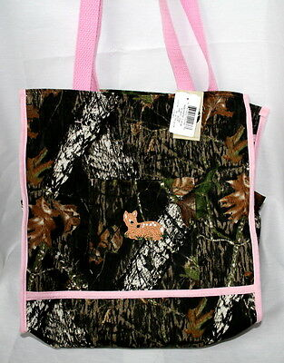 Mossy Oak Camo Pink Diaper Bag, Embroidered Baby Tote Camouf