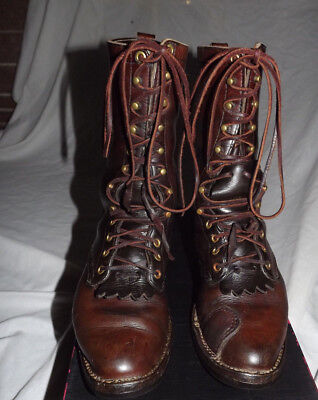 Hathorn Boot MFG Spokane WA Mens Sz 9 Oiled Leather Packer Outdoors Work Boots