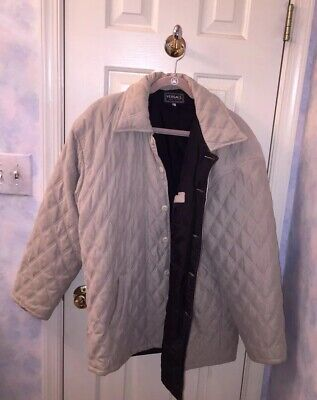 Versace Quilted Coat L XL Cream