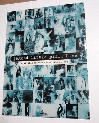 Alanis Morissette 1997 Jagged Little Pill Promo Static Cling / Sticker / Decal