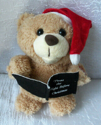 Dan Dee Holiday Story Telling Bear Plays Twas The Night Before Christmas #145 ()