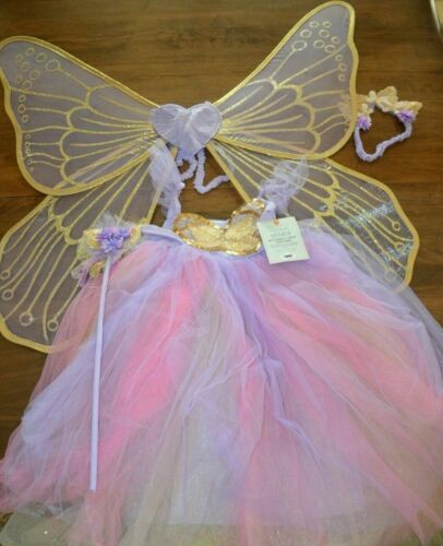 Pottery Barn Kids Lavender Butterfly Fairy Kids Halloween Costume 4-6 Year #4738