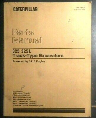 Cat Caterpillar 325 325l Excavator Parts Book Manual Catalog 8jg1 7cj1 5wk1 6kk1