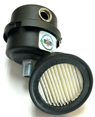 Solberg Fs-04-038 Filter Silencer 38 Male Pipe Inlet 2-34 Tall X 2-38 W