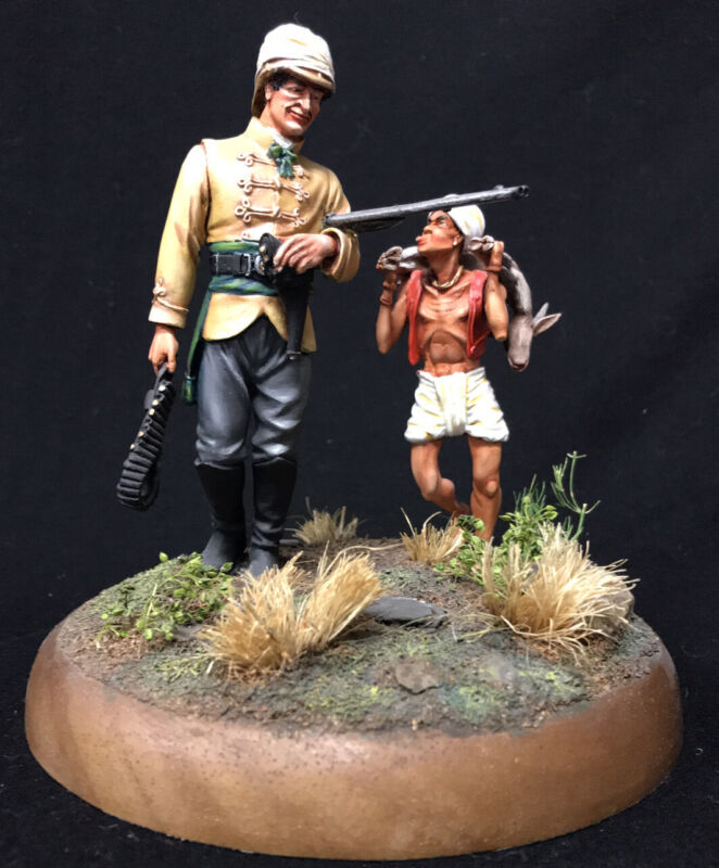 Benito 120mm: INDIAN OFFICER HUNTING W/ BOY