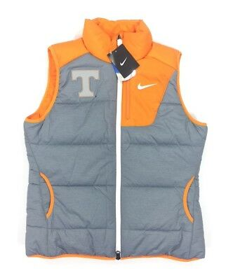NEW Nike Tennessee Volunteers Womens M Gray Orange Puffer Puff Short Sleeve Vest Tennessee Volunteers Womens Short