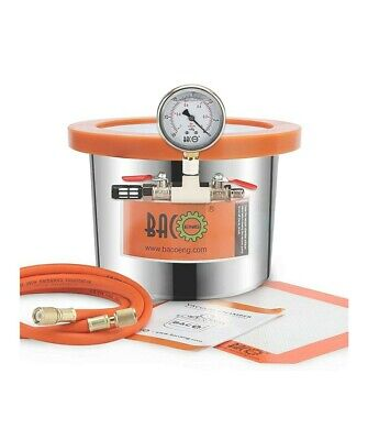 Bacoeng 1.5 Gallon Stainless Steel Vacuum Chamber Silicone Kit For Degassing ...