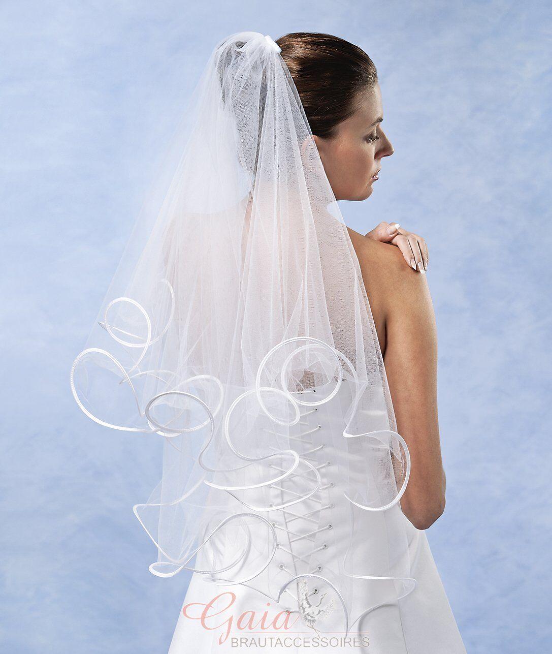 ❤ Braut Schleier mit Kamm 70/60 weiß ivory z. Brautkleid Hochzeitskleid