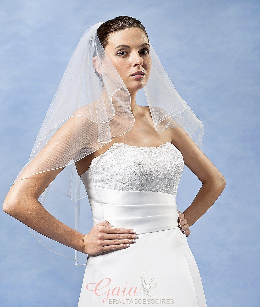 ❤ Braut Schleier mit Kamm 80/60 ivory z. Brautkleid Hochzeitskleid