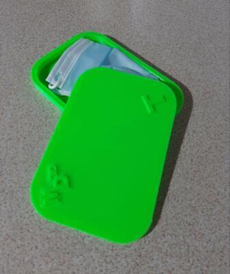 Porta mascherina custodia cover contenitore personalizzabile verde