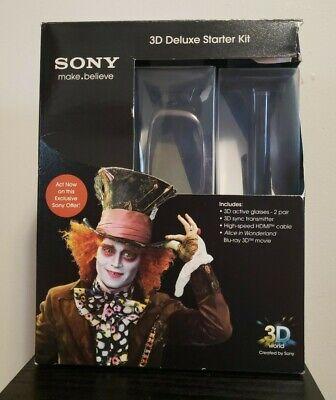 Sony 3D Glasses Deluxe Starter Kit Alice in Wonderland Blu-Ray Glasses