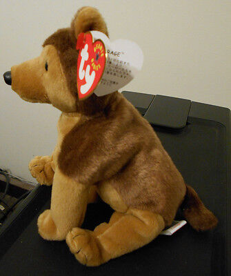 Ty Beanie Baby ~ COURAGE the German Shepherd Dog (Japanese Writing Tag) MWMT for sale  Shipping to Canada