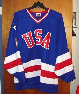 LABATT BLUE Beer K1 Hockey XL Jersey USA Olympic Style Red White & Blue - New