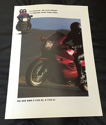 1993 Original BMW Motorcycle Dealer Sales Brochure K 1100 RS LT K1100LT K1100RS