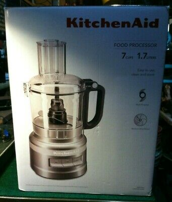 BRAND NEW KitchenAid Food Processor Silver 7Cups 1.7Liter KFP0718CU SEALED BOX