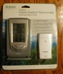 Oregon Scientific Wireless Indoor Outdoor Thermometer Dual Alarm Clock NEW