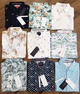 Mens Short Sleeve Denim - Denim & Flower + Cactus Man Ricky Singh Slim-Fit Button Front Short Sleeve Shirt