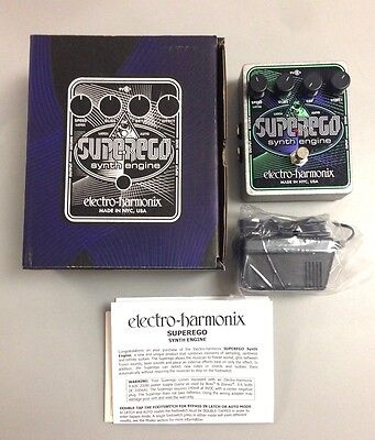Electro-Harmonix Superego Synth Guitar Effects Pedal LN