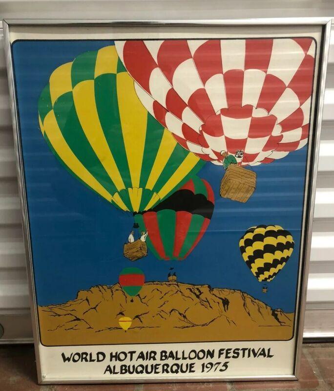 albuquerque international Hot Air balloon 1975 Poster Vintage Original