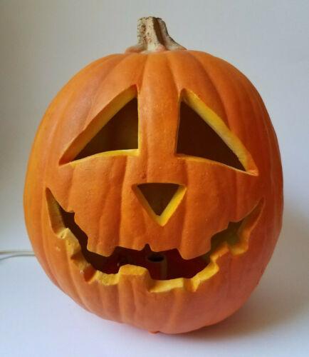 1993 Trendmasters Halloween Foam Blow Mold Pumpkin Light Up Jack O