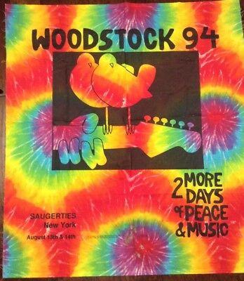 Woodstock 94 Tie Dye Banner wall hang tapestry saugerties printed - Woodstock Banner