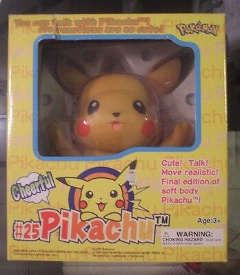 Pikachu Huge Action Figure Toy Flashing Cheeks Moves Speaks Talks Rare Electric