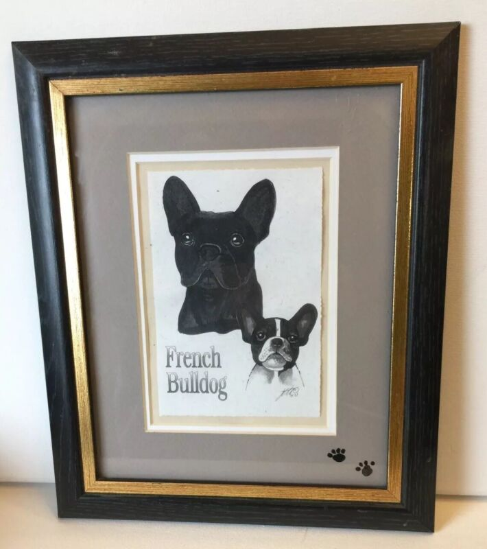 French Bulldog Signed And Framed Print