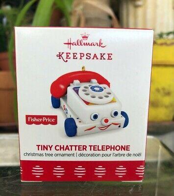 Hallmark Ornament-2017-Fisher Price-TINY CHATTER TELEPHONE-Miniature Ornament
