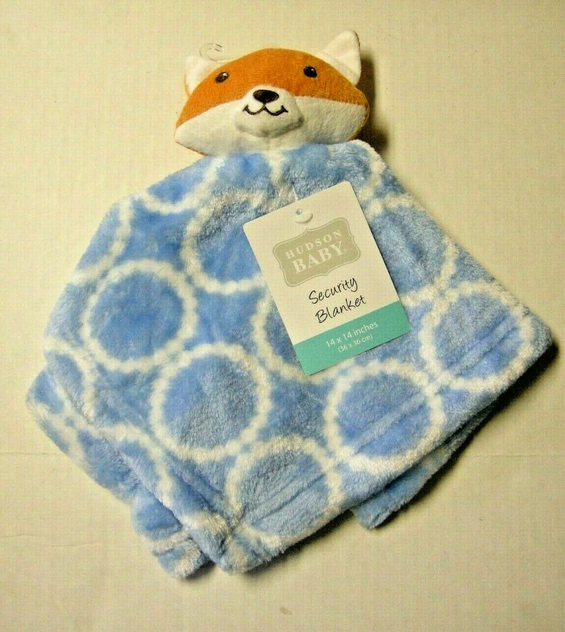 Hudson Baby Velboa Security Blanket, Blue Fox