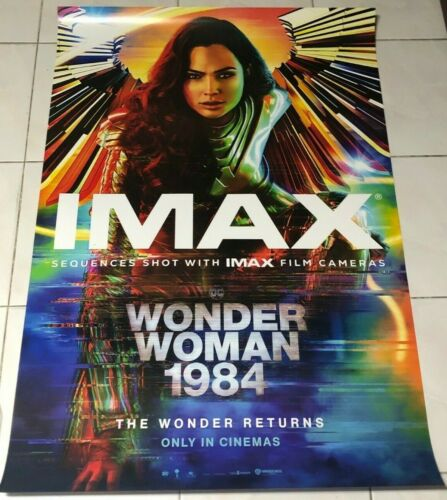 IMAX ORIGINAL Wonder Woman 1984 movie 27x39.50 DS POSTER WW84 Gal Gadot