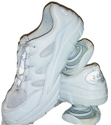 Z-Coil Women's  Freedom White Leather Sneaker For Pain Relief Sz 8 W