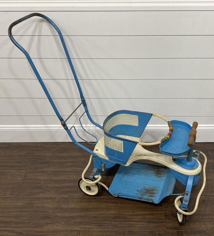 Vintage 1950s TAYLOR TOT Metal Baby Stroller Walker Buggy ~ Original ~ NEAT