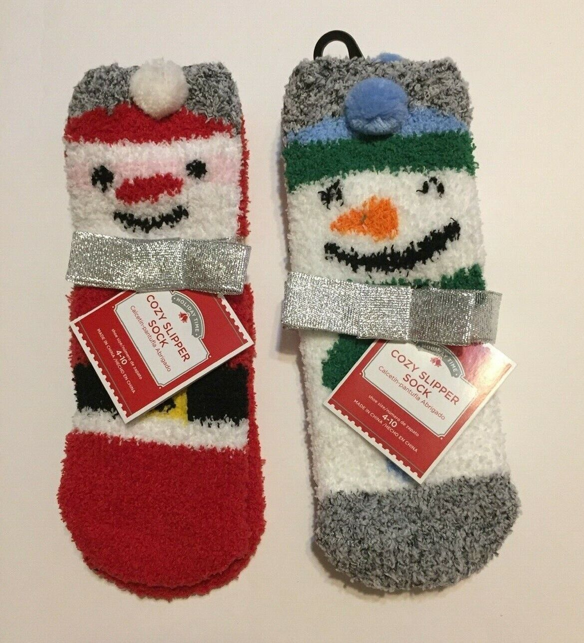 2 Pairs Women's Christmas Cozy Slipper Ankle Socks Shoe Size