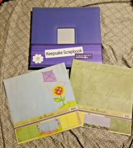 Scrapbook Lot of 3-12x12  Photo Album and 2 Sets of Design Paper