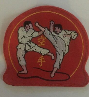 Vintage 1980/'s Nunchucks Kung Fu Martial Arts Nunchaku Jacket Patch Crest C 333