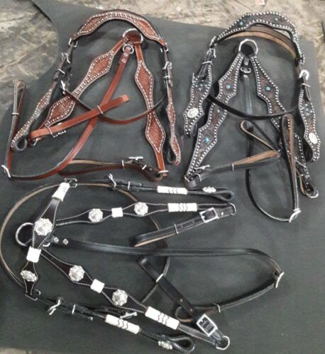 western head stall & breast collar 3 sets in one package