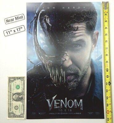 Venom 11 x 17 Poster 2018 Tom Hardy Eddie Brock Spider-Man