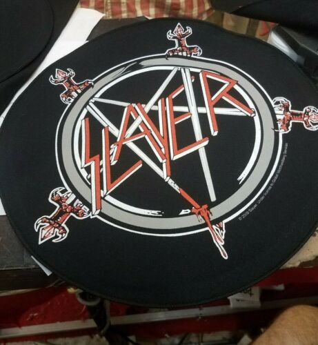 SLAYER BACK PATCH NEW RARE COLLECTABLE WOVEN ENGLISH IMPORT BACKPATCH