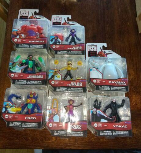 "Brand New Disney Store 3.75""  Big Hero 6 Set of 8 Action Figures (COMPLETE Set)"