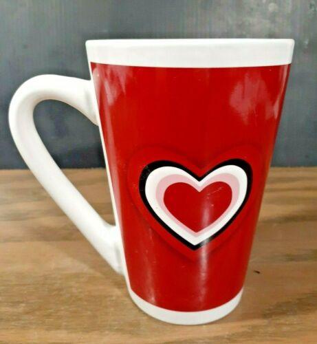 MTY INTERNATIONAL CO TALL HEARTS COFFEE MUG 14oz