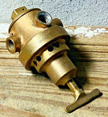 Dated 1917 Vintage Brass Regulator Valve Steampunk Pressure Valve Heavy Gauge