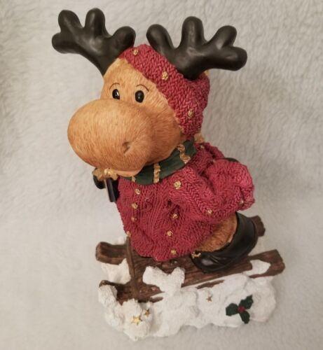 GB Retailers Multi Color Reindeer Sleigh Christmas Winter Figurine