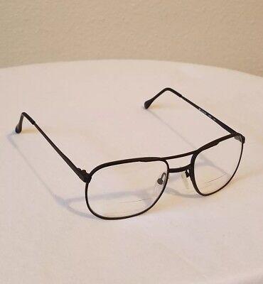 ARTCRAFT AVIATOR EYEGLASSES FRAMES BLACK MADE IN USA 52 [] 18 145 RARE DESIGNER (Glasses Frames Made In Usa)