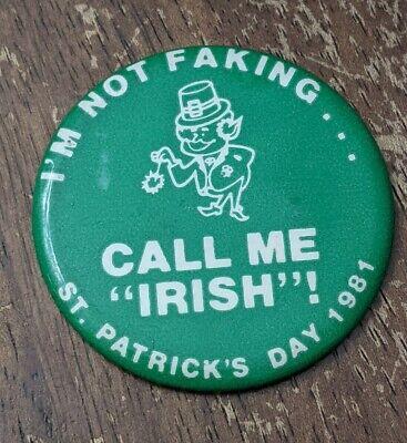 Vintage Pocket Mirror CALL ME IRISH ! 1981 St Patrick's Day