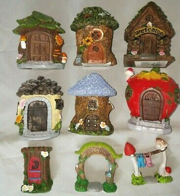 Fairy Garden Houses Gnome Village Tree Mushroom Cottage Stone Home Accessories
