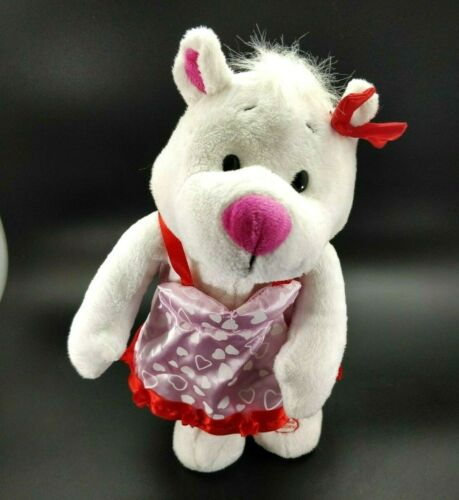 GEMMY Animated Plush White Bear Dancing Singing Can
