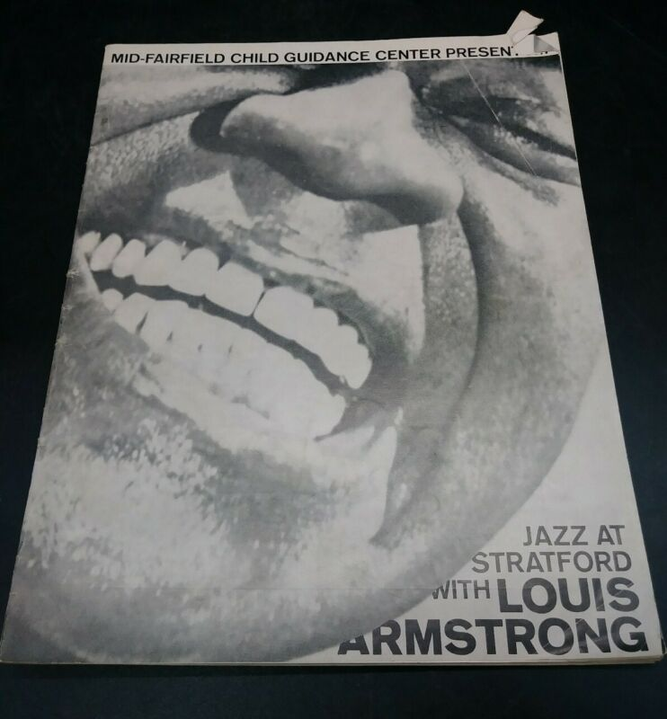 JAZZ AT STRATFORD PROGRAM MAGAZINE 21OCT1961 WITH LOUIS ARMSTRONG (J3-2)