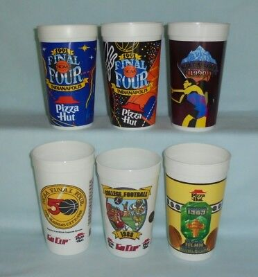 Pizza Hut Pepsi NCAA Final Four Basketball College Football To Go Plastic Cups
